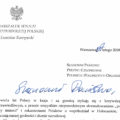 Letter to Polonia from Polish Senate