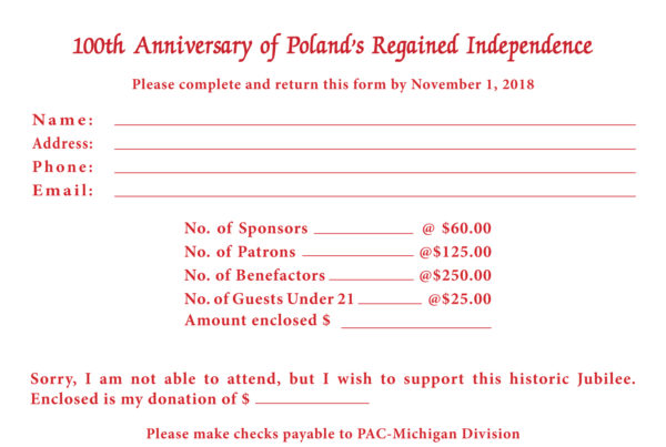 PAC Michigan to host a Celebration of 100th Anniversary of